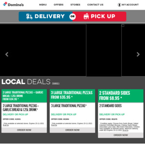 [QLD] Large Traditional / Plant Based Pizza $5.95, 2 Large Pizzas $22 Delivered @ Domino's (Select Stores)