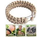 Outdoor Survival Bracelet with Stainless Steel Shackle for $3.56 + Free Shipping