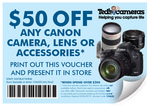 $50 off Canon Purchases at Teds (Min Spend $500)