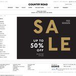 Country Road Extra 20% off Sale for Card Holders Online and Instore