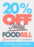 Voucher: 20% off Total Food Bill (Monday - Thursday) in 214 Venues in QLD, VIC, WA, SA & TAS