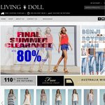 Living Doll: Up to 80% Off Ladies Clothing