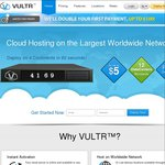 Vultr.com - VPS Hosting, Double First Payment + $10 Free