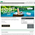 Specsavers - $50 off When You Spend $100 on Contact Lenses Online. Plus $10 Shipping