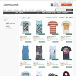 Mens Tees and Singlets from $1.19 Each at Jeanswest