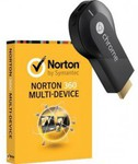 NORTON 360 Multi Device 5 User with Bonus Chromecast $52.73 after $40 Cash Back