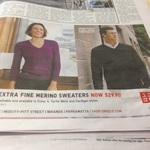 Extra Fine Merino Sweaters  - $29.90 (50% off) @ UNIQLO  + Free Shipping till 30/6