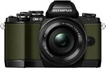 Olympus E-M10 with 14-42mm F3.5-5.6 EZ Limited Edition Kit Green $649  @CameraPro