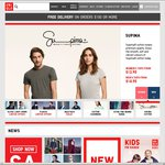 UNIQLO Free Delivery When You Shop Online 12/08