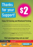 Secure Parking: $2 Evening or Weekend Parking