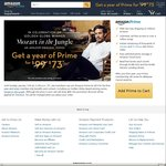 Amazon Prime 1 Year Membership $73 USD / $105 AUD. New Member Sign up Only. Usually $99USD