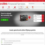 Coles Reloadable Prepaid MasterCard $0 (Normally $10)