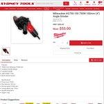 """Milwaukee AG750-100 750W 100mm (4"""") Angle Grinder $55 @ Sydney Tools"""