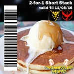 2 for 1 Short Stack Pancakes for Team Valor and Instinct (Pokemon Go) - The Pancake Parlour (VIC) until 11/08