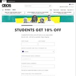 ASOS 10% off for Students (until Graduation)