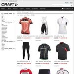 Craft Cycling Gear 90% off + $10 Flat Postage