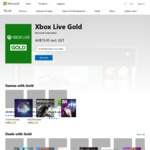 XBOX Live Gold - 12 Months from Microsoft $53 (AUD) Save $26.95