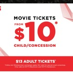 All HOYTS Tickets Reduced - from $10 Child and $13 Adults (Bankstown and Blacktown Cinemas NSW)