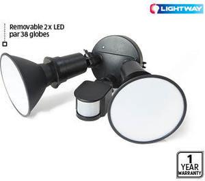 led twin security sensor light aldi ozbargain. Black Bedroom Furniture Sets. Home Design Ideas