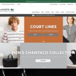 Lacoste 30% off Online - 24 Hours Only