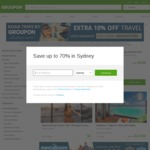 Extra 10% off Travel Deals until Midnight @ Groupon