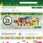 3000 Extra Points with Min $50 Picked up from Woolworths Online