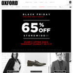 OXFORD 65% off - Black Friday Sale