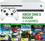 Xbox One S 500GB Console + 4 Games $269 Pickup or $278.22 Delivered @ EB Games