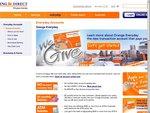 ING Orange Everyday $25 Cashback for 5 X $50 Purchases