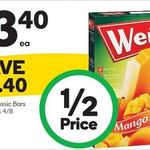 ½ Price Weis Ice-Cream Bars 4-Pack $3.40 at Woolworths ($0.85 Each)