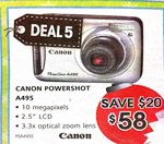 Canon Powershot A495 - only $58 from Domayne
