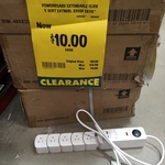5 Socket Extendable Power Board or 10m Flexible Extension Lead - $10 @ Bunnings Warehouse