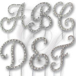Diamonte Pearl Letter Cake Topper $5.40 Free Shipping (Was $18.00) @ Cake Luxury eBay