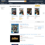 Marvel Movies in DVD and Blu-Ray 2 for $20 Plus Shipping @ Amazon AU