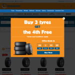 Buy 3 Tyres, Get The 4th Free - on a Wide Range of SUV & Passenger Tyres (Dunlop) @ Beaurepaires