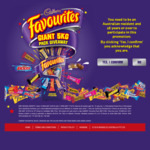 Win 1 of 100 5kg Cadbury Favourites Packs Worth $150 Each [Purchase Cadbury Favourites from Big W]
