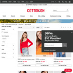 $5 Deal Of The Day: Women's/Men'sTee, Pants, Legging and More @ CottonOn