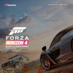 Forza Horizon 4 DLC, 14 Day Game Pass, 1 Mth Gold Live + 2 Pizza, Garlic Bread, Drink $27.95 (Pickup), $34.95 (Del) @ Domino's