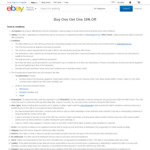 Buy One, Get One 15% off Sitewide @ eBay (Min Spend $50)