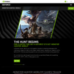"""Nvidia """"The Hunt Begins"""" Promotion: Free Monster Hunter World with GTX 1070ti, 1070 or 1060 (6GB Only) Purchase"""