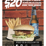 [VIC] Burger + Small Chips + Bottled Beer for $20 (Monday - Wednesday Only) @ Andrews Hamburgers, Melbourne