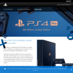 Win a Limited Edition 500 Million PlayStation 4 Pro from Sony