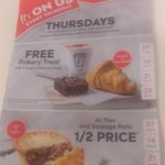 ½ Price Pies & Sausage Rolls on Thursdays (7, 14, 21 and 28th of March) @ Caltex