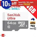 SanDisk Ultra 64GB Micro SD - 2 for $18.55, High Endurance 32GB - 2 for $23.95 + Delivery (Free w/eBay Plus) @ Shopping Sq eBay