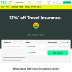 12% off Travel Insurance @ Travel Insurance Direct