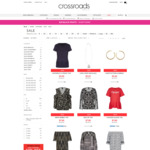 50% off All Clothing (Including Sale Items, Starting From $1.75) @ Crossroads