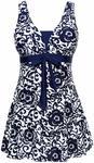 Women's Plus Size Boyshorts Swimsuit $18.30 (Was $36.59) + Delivery ($0 with Prime/ $39 Spend) @ Wantdo Amazon AU