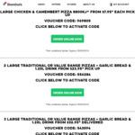 Chicken & Camembert Pizza (Premium Range) $7.95 Pick up @ Domino's