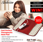 Win a Sunbeam Feel Perfect Therapeutic Heat Pads Worth $59.95 from Stan Cash