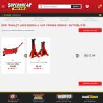 Car Trolley Jack 2000KG & Car Stands 3000KG - Both for $147.99 (was $281.48) @ Supercheap Auto